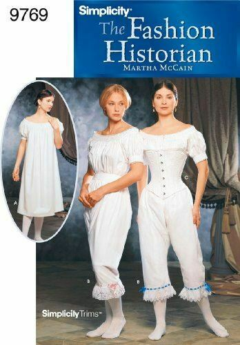 Simplicity Sewing Pattern 9769 Misses Undergarment Costumes Size 6-12 HH