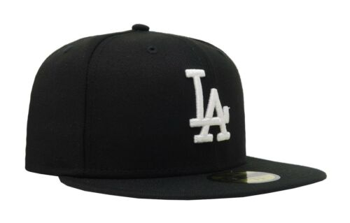New Era 59Fifty Cap Los Angeles Dodgers MLB Basic Black White Fitted Big Hat
