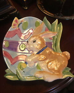 Fitz and Floyd Bssentials Painting Easter Eggs Welcoming Candy Dish/Decor