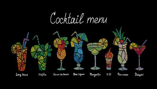 1265 Cocktail  Bar Runner Pub Cafe Club Hotel Alcohol Counter Mat 44 x 25 cm