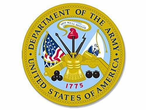 4x4 inch Round Department of The Army Seal Sticker US Soldier Logo insignia