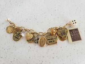 John-Wind-Maximal-Art-Charms-Bracelet-Signature-Collec-Locket-Dog-Tag-dice-Gold