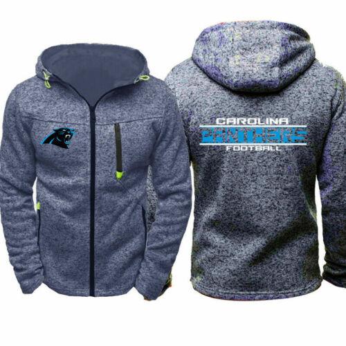 Carolina Panthers Fan Hoodie Sporty Jacket Sweater Zipper Coat Spring Autumn Top