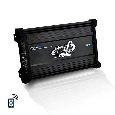Lanzar HTG448BT Heritage Series 2000W 4-Channel Amplifier with Bluetooth Audio
