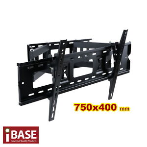 TV-WALL-MOUNT-BRACKET-LCD-LED-PLASMA-FLAT-SWIVEL-37-42-46-50-60-65-70-75-FREE