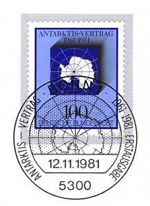 Rfa 1981: Antarctique-traité Nº 1117 Avec Bonner Ersttags-cachet Spécial! 1a! 154-rag Nr. 1117 Mit Bonner Ersttags-sonderstempel! 1a! 154fr-fr Afficher Le Titre D'origine