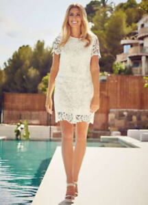 Ladies-Stacey-Solomon-for-Oli-Ivory-Lace-Sequin-Skirt-UK-Size-12