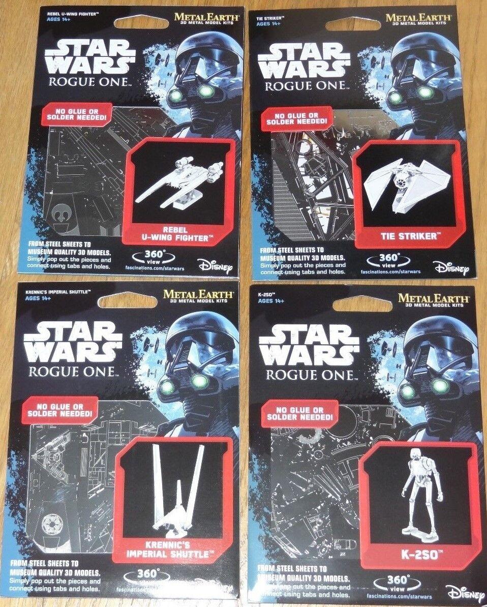 Set of 4 Star Wars Rogue One Metal Earth 3D Laser Metal Cut Models Fascinations
