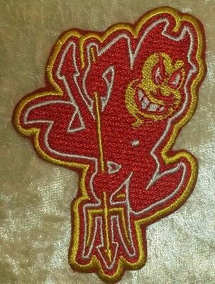 "ASU ARIZONA STATE UNIVERSITY SUN DEVILS EMBROIDERED IRON ON PATCH 3.75"" X 2.25"""