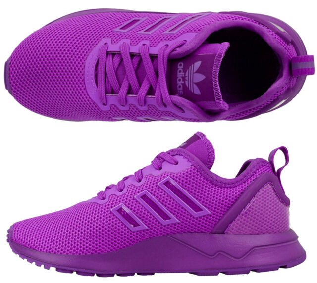 Adidas Baby Infant Girls Kids ZX Flux Adv Trainers Elasticated Laces New  Boxed 170025510