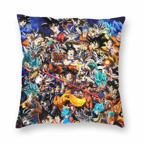 Dragon Ball Goku Throw Pillow Case Cushion Cover Car Bed Sofa Decor 16-22 Custom
