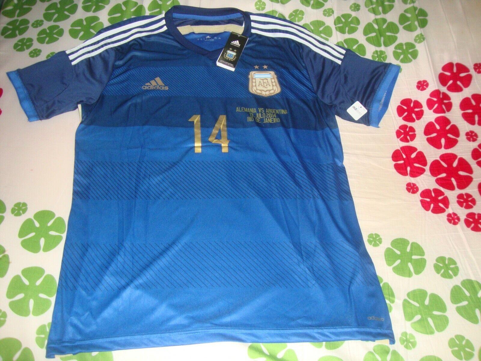 Mascherano argentoINA World Cup 2014 FINAL trikot jersey maillot Messi Barcelona
