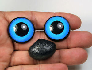Safety eyes and nose 14 mm blue stuffed animal toys amigurumi crafts bears
