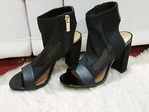 2019 DernièRe Conception Chaussures Femme En Résille Noire à Talon Chaussures Taille 4 De River Island