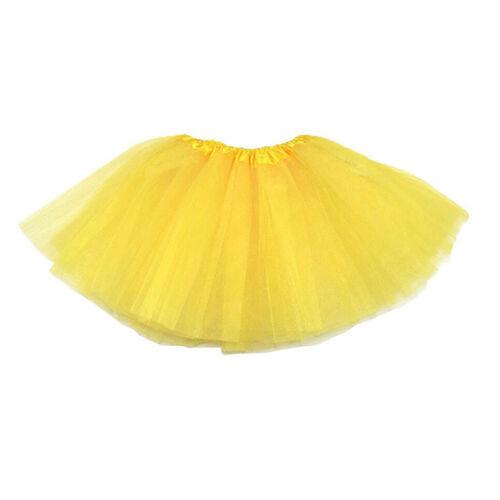 Kinder Maedchen Modern Ballett Verkleiden Fee Tutu Rock Gelb Y5V9