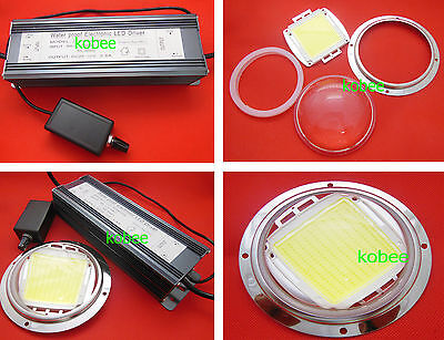 200W High Power LED Chip /& 200W Dimmable Driver /& Lens Reflector Fixed Mount
