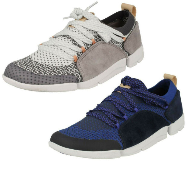 luxuriant in design uk store where to buy Ladies Clarks Casual Lace up Trainers Tri Amelia Grey UK 4.5 D