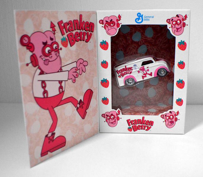 Hot Wheels _ Franken Berry vehículo de entrega _ con 2018 exclusiva edición limitada _ Menta en caja