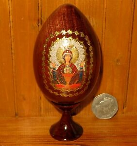 Wood-Icon-Egg-Theotokos-Our-lady-of-The-Inexhaustible-Cup-Russian-Christmas-GIFT