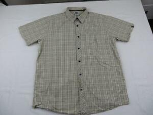 North-Face-Mens-Brown-Plaid-Hiking-Shirt-Size-Large-Summer-Fishing-Travel-Guide