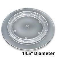 10 Pc Clear Plastic Revolving Display Base 14.5 Dia X 0.75h