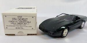 AMT-Ertl-1994-Chevrolet-Corvette-Convertible-Polo-Green-Metallic-Dealer-Promo
