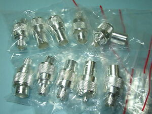 10pk-UHF-Male-PL259-Crimp-On-Silver-Tfe-For-RG8-9913-LMR400-E