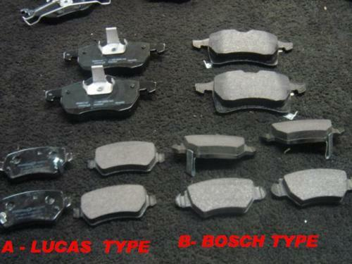 VAUXHALL ZAFIRA FRONT REAR  BRAKE PADS WITH ABS