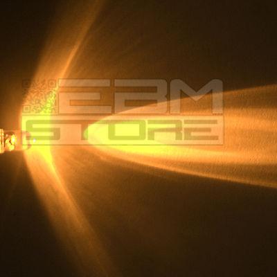 10 pz led gialli 5 mm alta luminosità 6.000 mcd - ART. AM07