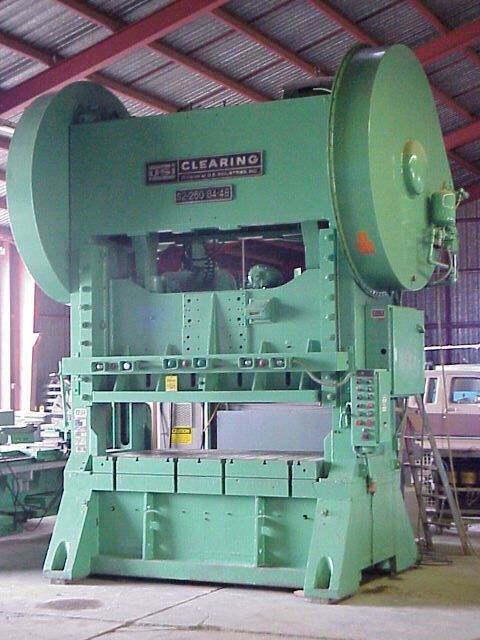 "250 Ton CLEARING Model S2-250-84-48 Straight Side Press; 12"" Str.; 11"" R.A"