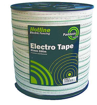 Electric Fencing Tape-  PREMIUM TAPE 40mm x 200m