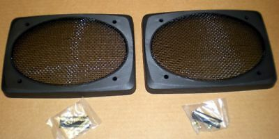 "Black for Car Truck Home Boat Speaker Grills Screens Covers 6x9/"" 1 Pair = 2"
