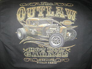 OUTLAW-GARAGE-HOT-ROD-RAT-ROD-SPEED-SHOP-STOLEN-PARTS-T-SHIRT-M-TO-6XL