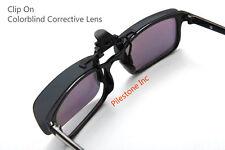 Color Blind Glasses: 180° Flippable Clip On Dark Lens Colorblind Correction