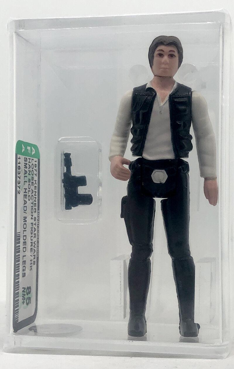 Kenner Star Wars Han Solo pequeño cabeza Moldeado piernas Hong Kong autoridad Figura de Acción 85 estilo suelto nuevo caso