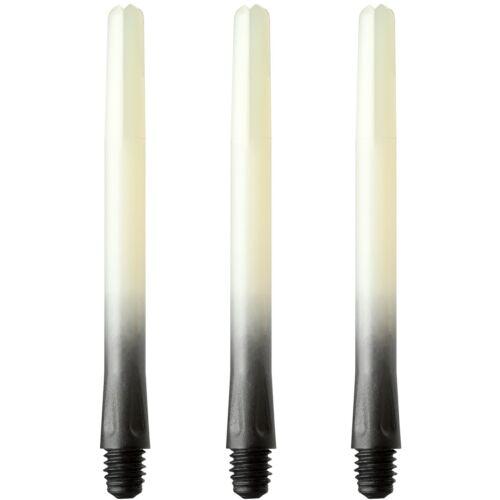 Two Tone Vignette Bulls Dart Stems Shafts 2 Sizes 3 Colours Poly Tough
