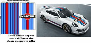 Le-Mans-Martini-Racing-style-Stripe-and-Logo-fit-Porsche-911-Sticker-decal-A648L