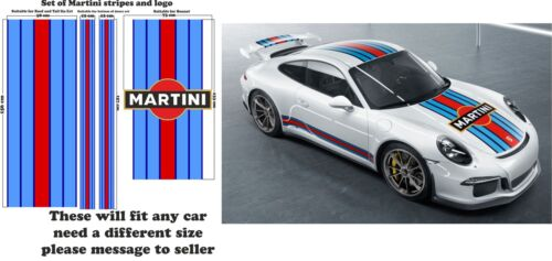Le Mans Martini Racing style Stripe and Logo fit Porsche 911 Sticker decal A648L