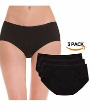 Hesta Plus Size Women's Organic Cotton Basic Panties Underwear Briefs 3 Pack 3XL