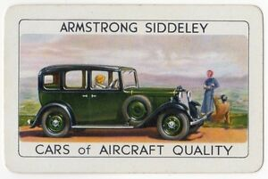 Playing-Cards-1-Single-Card-Old-ARMSTRONG-SIDDELEY-Car-Motor-Advertising-Art