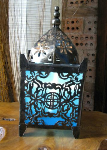 Moroccan Lantern Light Lamp Electric Fair Trade Indian Metal 6 Colours Available