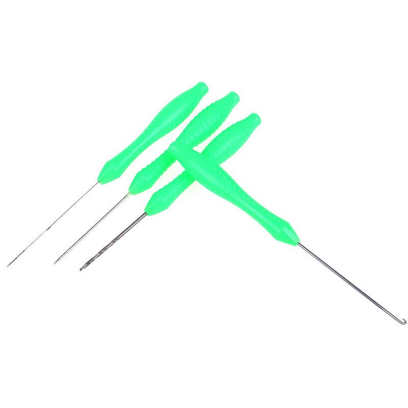 4Pcs Fishing Rigs Needle Kit Bait Needle Set Hook Drill Baiting Rig Tool CarRSDE