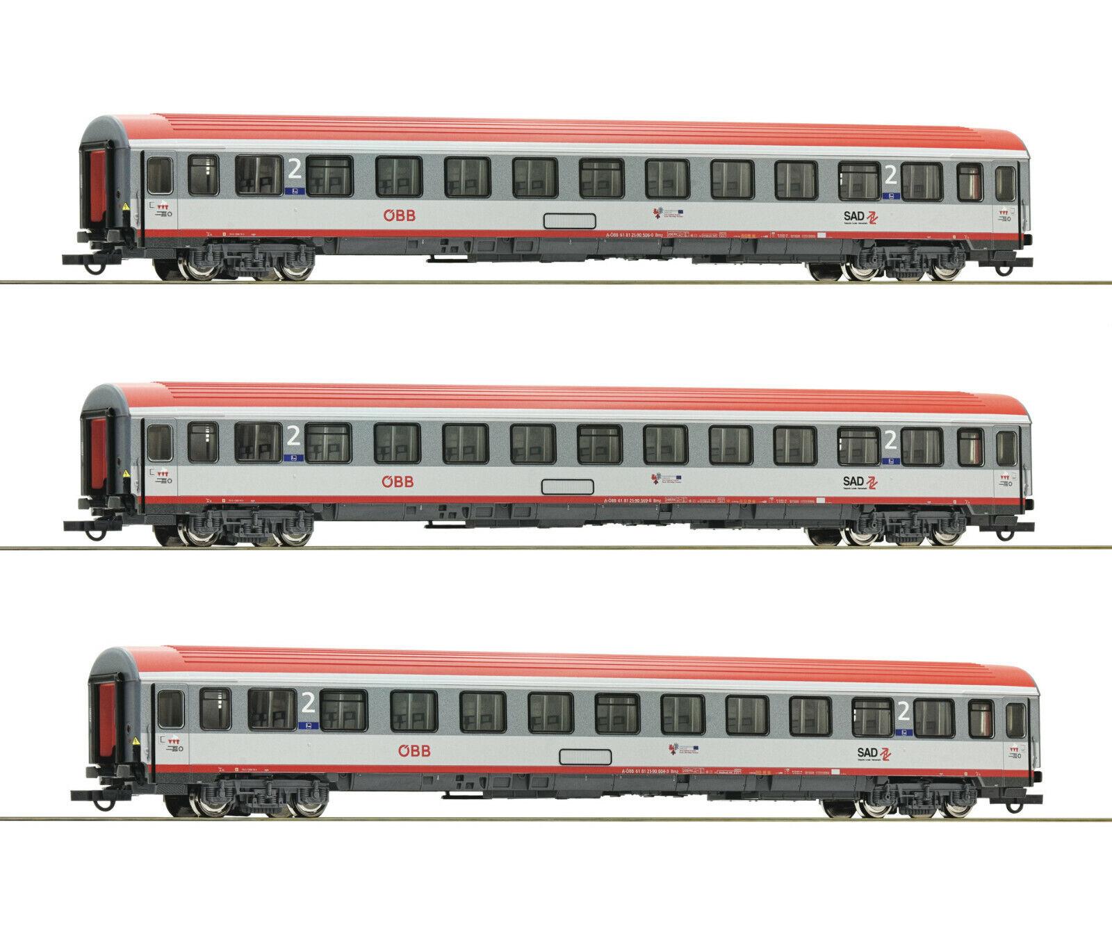 Roco h0 74132 - 3 unid set  regional Express Innsbruck-Bolzano, ÖBB mercancía nueva
