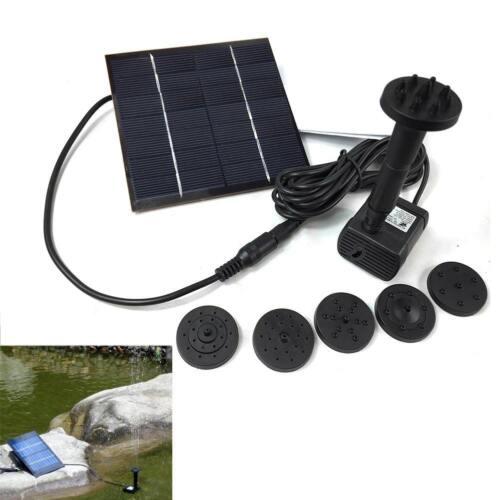Solar Power Water Pump Panel Kit Fountain Pool Garden Pond Submersible Water GA