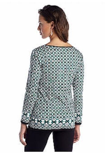 Max black Keyhole Studio Tunic Sophie 4b12n89 Ponte Green Top Geo Leather Trim adOWBnBT