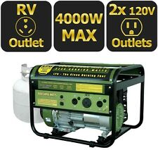 Portable Generator Propane Gas Powered 4,000-Watt Camping Emergency RV Outlet