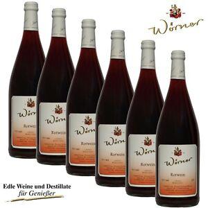 (4,98€/l) Rotwein 6 x 1l Wein aus der Pfalz - WEINGUT WÖRNER roter Hausschoppen
