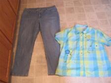 RIDERS plus sz 20w M straight leg light jeans & White Stag top sz 18w 20w lot Q2
