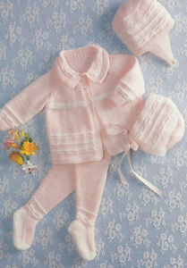 d9f0c22b3 Nice baby girl Pram set- Knitting pattern in DK- fairly easy knit ...