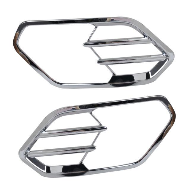 2X Chrom Nebelscheinwerfer Blende Abdeckung Rahmen Trim für Ford Escape Kuga 17